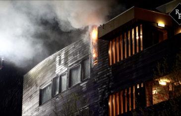 Vrouw zwaargewond bij brand in appartementencomplex Den Bosch