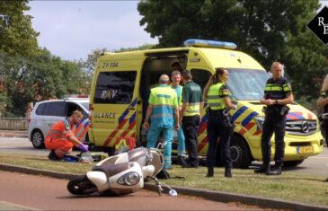 Scooterrijder zwaargewond bij ongeval Merwedelaan Den Bosch